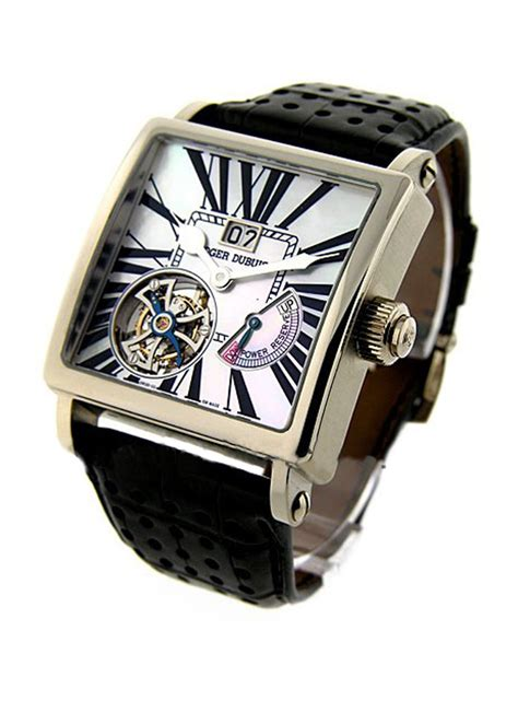 Roger Dubuis Silver Leather Matic For g40 03 0 sfbd gn1g 7a roger dubuis golden square 40mm white gold essential watches