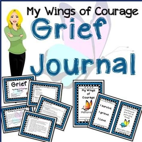 printable grief journal grief my wings of courage journal pinterest wings