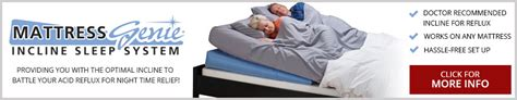 Genie Pregnancy Pillow by Acid Reflux A At The Mattress Genie Iss Can
