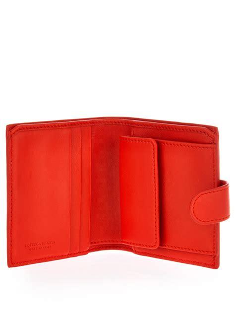 Bottega Veneta Intrecciato Karung Leather Wallet by Lyst Bottega Veneta Small Intrecciato Leather Wallet In