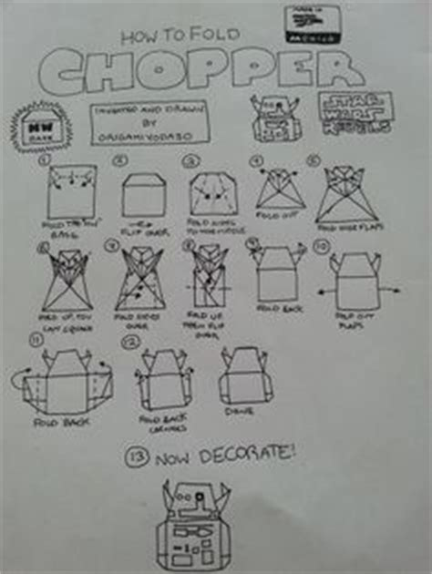 Origami Yoda Characters - sf brioboy1s kit fisto and mace windu instrux origami