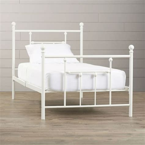 white metal headboard and footboard 1000 ideas about white metal bed on pinterest metal
