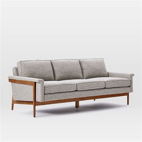 wood frame sofa west elm