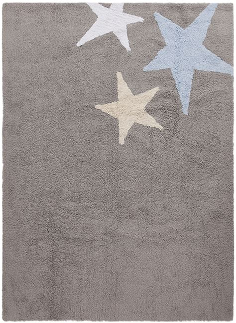 Grey And Blue Rug by Three Cotton Rug In Grey And Blue By Canals