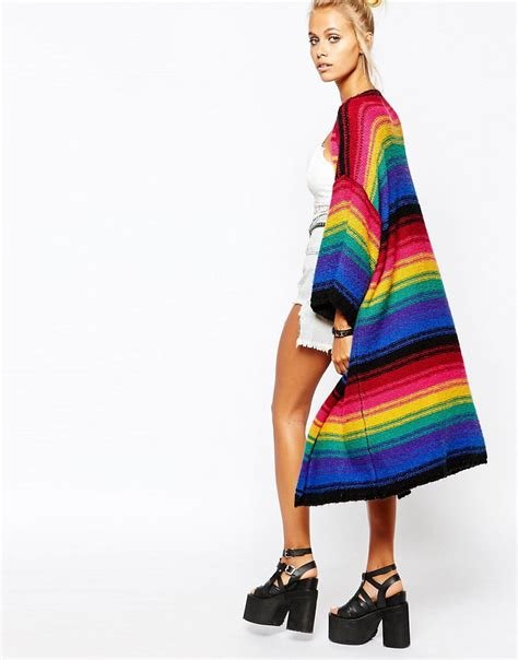 Rainbow Cardigan 1 kimono cardigan rainbow sweater jacket