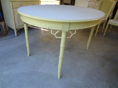 faux bamboo extending dining table thomasville