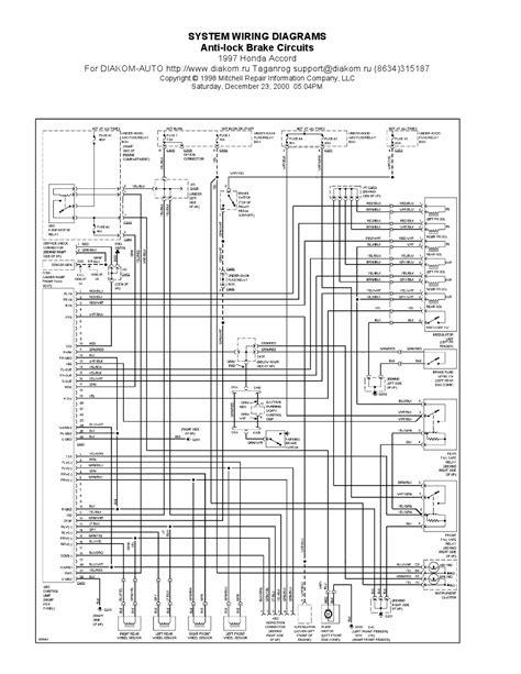 1997 honda accord anti lock brake circuits system wiring
