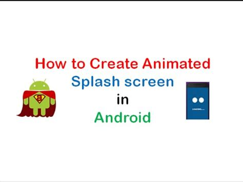 how to make an android how to create animated splash screen in android studio shoutcafe