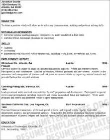 Auditor Resume Objective by Auditor Resume Template Free Resume Templates Collection