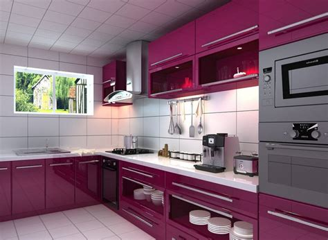 Plum Kitchen by 40 Colorful Kitchen Cabinets To Add A Spark To Your Home