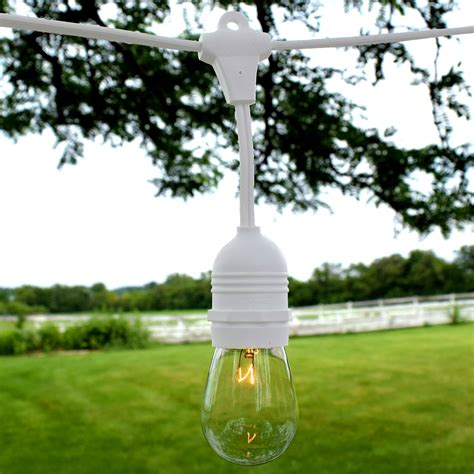 Patio Light Strands Outdoor Patio String Lights 54 White Suspended