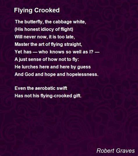 flying crooked poem by robert graves poem hunter