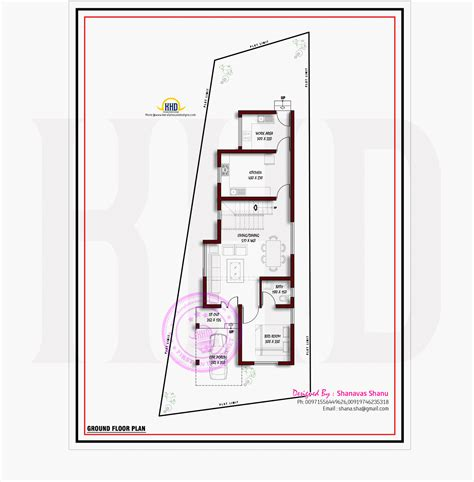 flat roof plan flat roof modern villa with floor plan kerala home