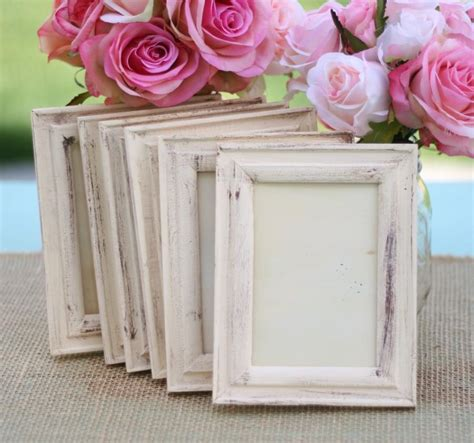 wedding frame shabby chic rustic distressed paint item