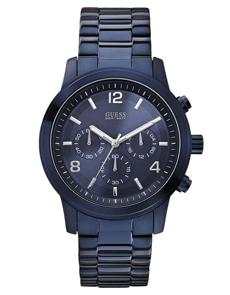 guess mens navy bold contemporary chronograph in
