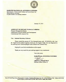 Guarantee Letter For Pcso sle letter of request for financial assistance