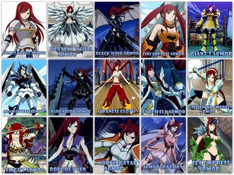 ERZA'S ARMORS - Fairy Tail Wallpaper (27864860) - Fanpop Erza Scarlet Armor Types