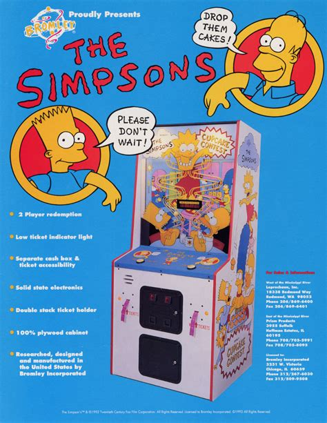 The Simpsons Contest by The Arcade Flyer Archive Arcade Flyers Simpsons