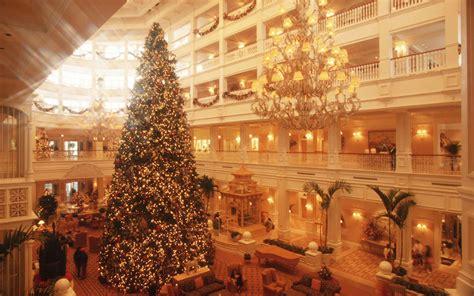 top ten hotel lobby christmas decorations disney travel tips travel leisure