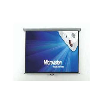 Wallscreen Layar Manual Gantung 213 X 213 Cm 84 X 84 jual layar proyektor projector microvision manual wall