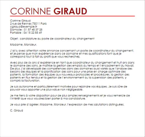 Exemple De Lettre De Motivation Coordinateur Administratif Exemple Lettre De Motivation Coordinateur Du Changement Livecareer