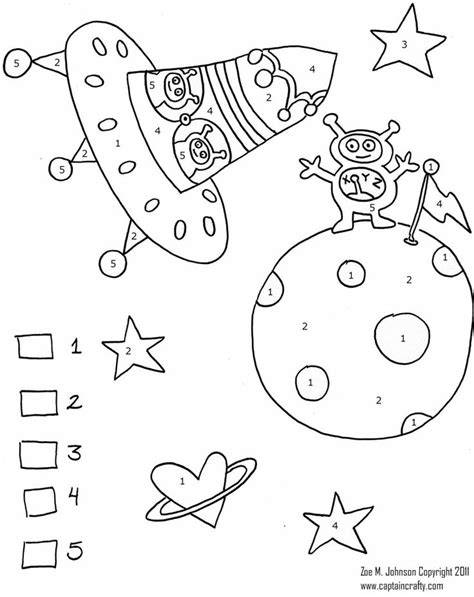 space coloring pages for kindergarten space color by numbers worksheet crafts and worksheets