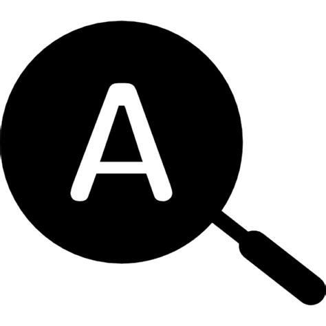 Text Free Lookup Search Text Symbol In A Circle Icons Free