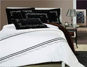 King Size Bedding Black And White Reactive Printing Black And White 4pcs Bedding Set King