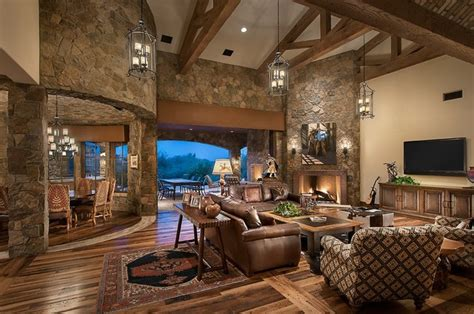 European House Plans One Story by Southwestern Ranch Traditional Living Room Phoenix
