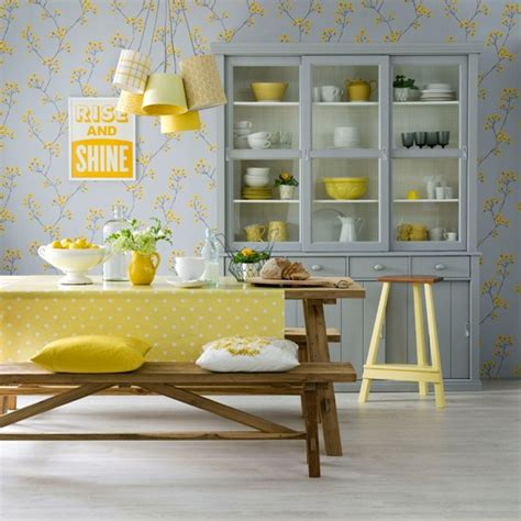 yellow dining room ideas lemon and dove grey dining room dining room decorating