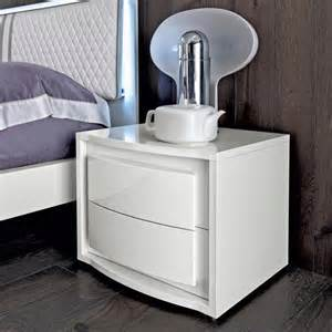 White Gloss Bedside Tables Furniture Furniture Modern White Gloss Bedside Table With