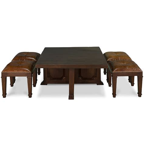 coffee table with 4 nesting stools so that s cool