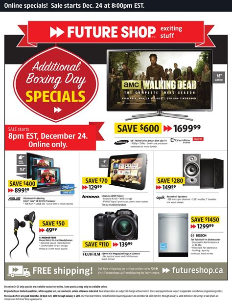 Future Shop Gift Card Online - futureshop online boxing day sale 2013