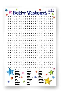printable word search self esteem printable downloads to help concentration