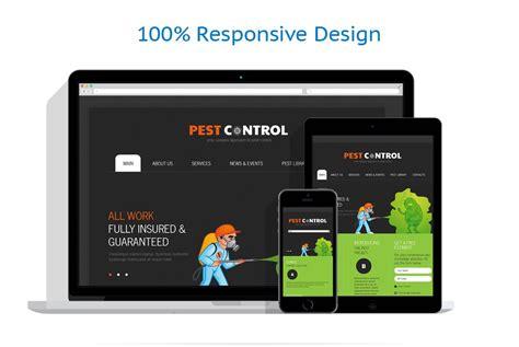 html responsive design max width pest control responsive website template 43768