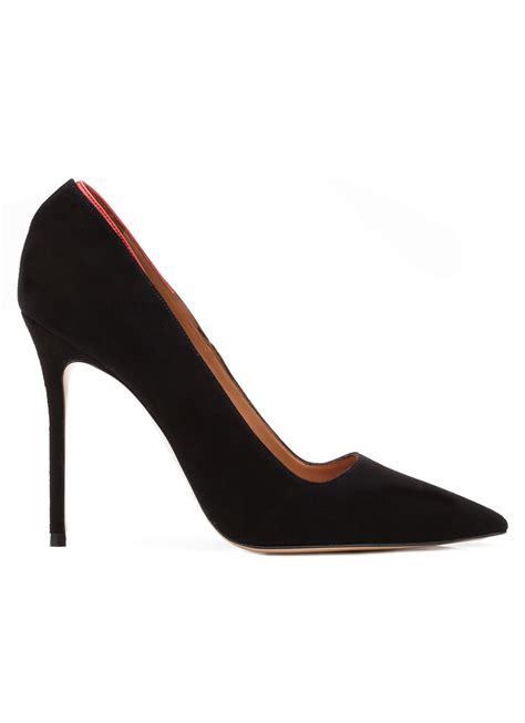 zapatos de salon zapatos de sal 243 n en ante negro tienda de zapatos pura