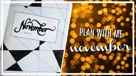 bullet journal plan with me november 2017 irina touw
