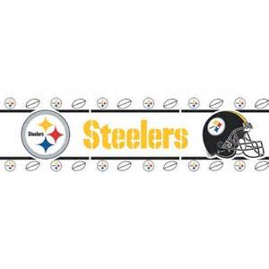 steelers home decor home d 233 cor pittsburgh steelers nfl wallpaper border home