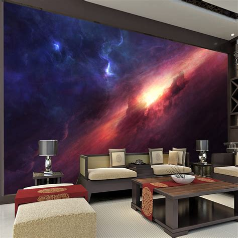 galaxy wallpaper for bedroom 3d charming galaxy wallpaper room decor fantasy photo