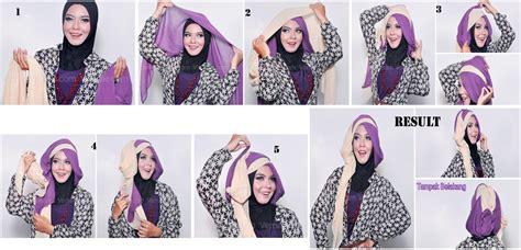 tutorial hijab untuk wisuda dua warna tutorial hijab wisuda dua warna kumpulan model hijab dan
