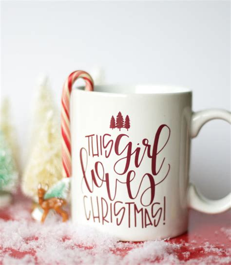 this girl loves christmas mug by chalkfulloflove h o l i