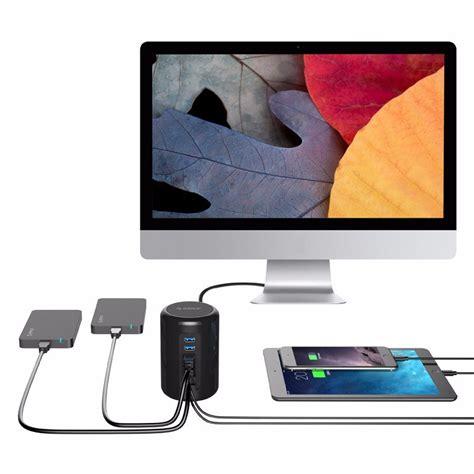Incus Usb Hub 30 In 38 4 Port orico mac style usb 3 0 high speed hub 4 port and 2