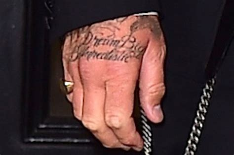 david beckham hand tattoo david beckham shows new