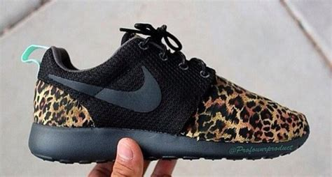 shoes black nikes nike leopard shoes black and cheetah