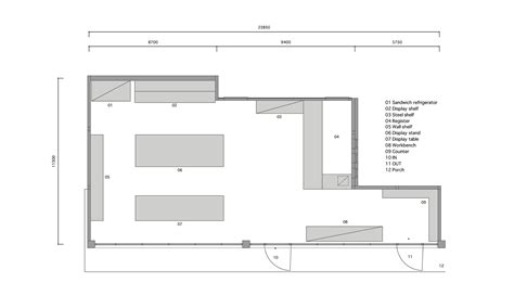 floor plan for bakery shop style bakery snark archdaily