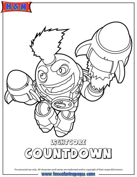 eye brawl skylander coloring page skylanders swap force tech lightcore countdown coloring