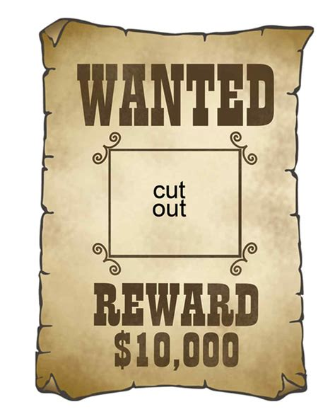 free wanted poster template printable cowboy cutouts martha stewart