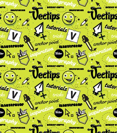 seamless pattern on illustrator create a trendy seamless type pattern vectips