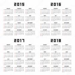 Calendario 2018 Eps Calendar 2015 2016 2017 2018 Stock Vector