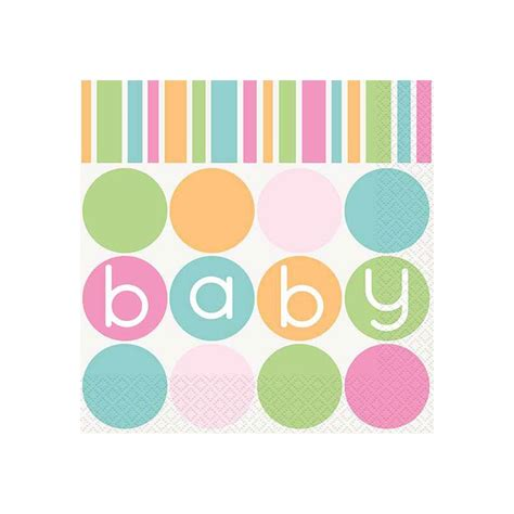 Baby Napkins pastel baby shower lunch napkins